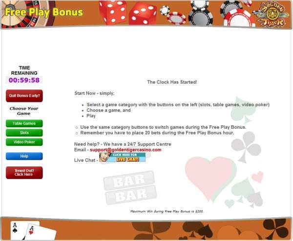 free play bonus screenshot
